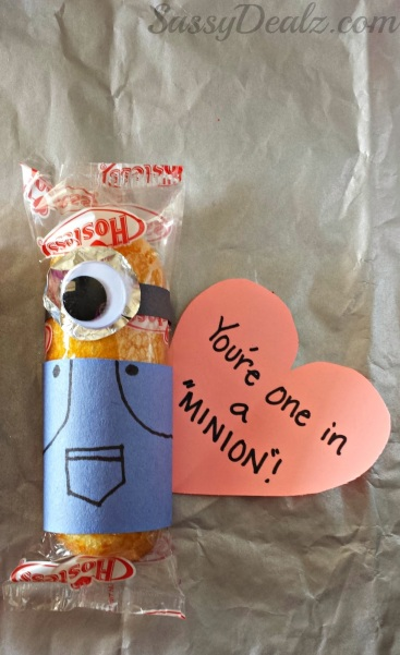 minion valentines day twinkies