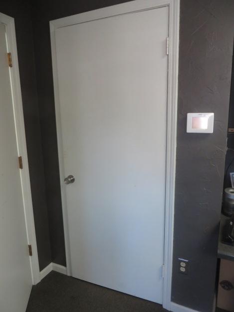 closed closet door